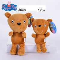 Genuine 1PCS Plush toy Peppa 30cm Peppa's Teddy bear high quality hot sale Short Floss Animal Pig Doll For Children's Gift
