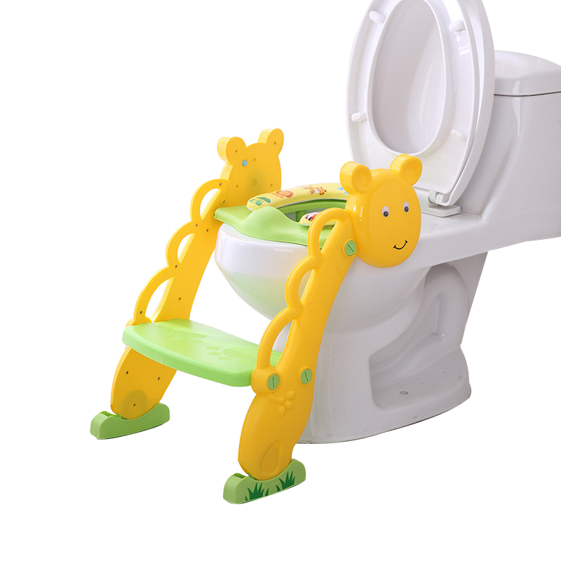 baby toilet seat baby folding potty trainer seat chair step with adjustable ladder child potty seat toilet with free brush Baby Toilet Training Seat Baby Folding Potty Trainer Seat Chair Step With Adjustable Ladder Portable Kids Potty