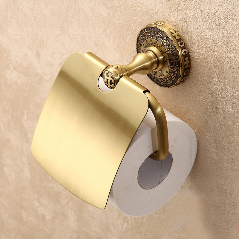 Solid brass Bathroom Art Carved Toilet Paper Holder Wall mounted  antique Roll paper holder Bathroom accessories Solid brass Bathroom Art Carved Toilet Paper Holder Wall mounted  antique Roll paper holder Bathroom accessories