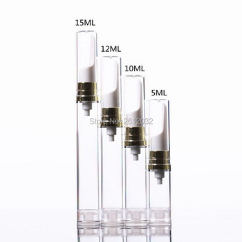 5ml 10ml 12ml 15ml Clear Eye Cream Airless Gold Pump Bottle Vacuum Flask AS Emulsion Bottles Travel Size Plastic Vials Container