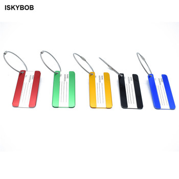 Metallic Luggage Tags Creative Suitcase Label Name Address ID Bag Baggage Tag Travel Aircraft Accessories