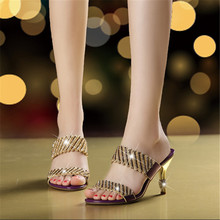 Women Slippers Rhinestone Ladies Outdoor Party Slipper Shoes Bling Fashion Funny Adult XMX-A0060