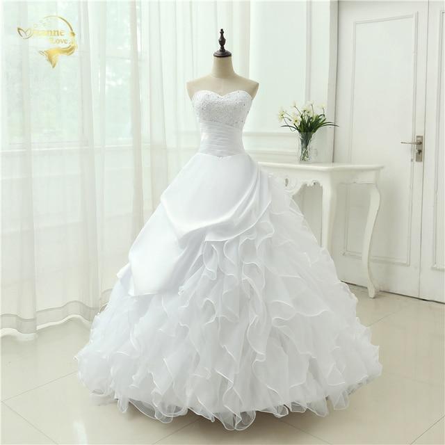 estilo clásico vestidos de novia de una línea de novia sin tirantes