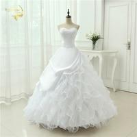 Classic Style Vestidos De Noiva A Line Robe De Mariage Strapless Applique Bridal Gown Wedding Dress
