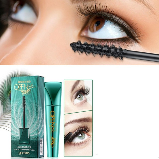 e44df2122fc Eyelashes Lengthening Extension Colossal Volume Mascara Black Ink Alobon 3d  Fiber Quick Dry Lashes Makeup