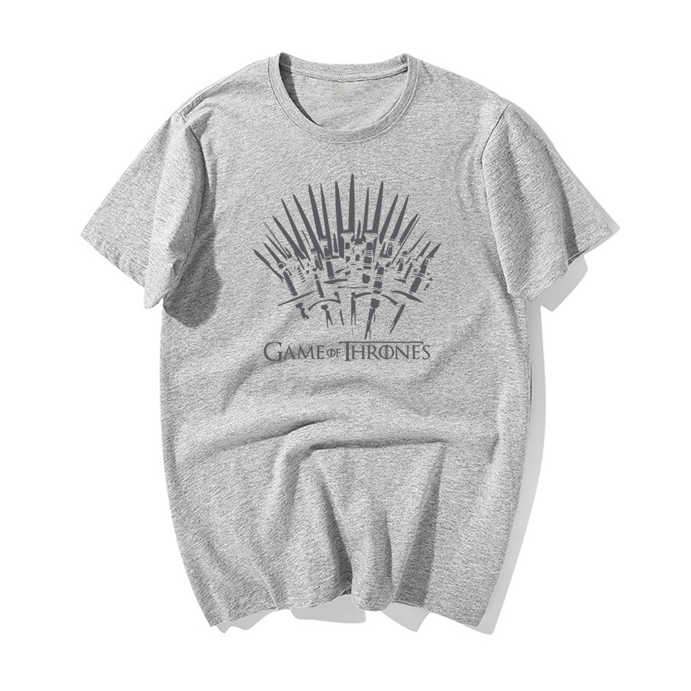 Game Of Thrones Brand 2019 Newest T shirt The Song Of Ice And Fire T shirt Cotton Printing Iron Throne T shirt Summer Tshirt in T Shirts from Men 39 s Clothing