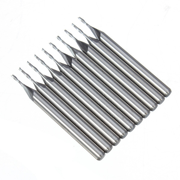 Hand Drill Brocas Drill Ferramentas Marcenaria 2 Sets/lot _ 10 Pcs 1.0mm 4mm Cel Flute Carbide Flat Nose End Mills Router Bit 5pcs 4 0 mm 4mm 2 flute carbide spiral end mills router bit 22mm cel