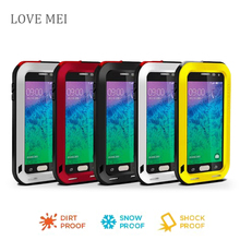 Love Mei Waterproof Shockproof Gorilla Glass Metal Aluminum Case Cover For samsung galaxy Alpha G850 Three proofing phone cases