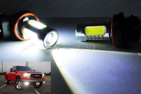 Pair 6000k White H10 9145 9140 for CREE Chips Car Bulb LED Projector Fog Light DRL 11W For Ford F150 F250 Mustang Ranger etc 63 smd projector h10 9145 led fog light 9140 bulbs for driving light py20d 12v 24v bright than 33 smd white
