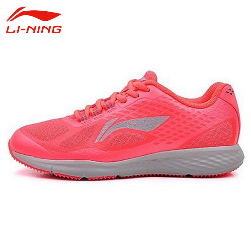 ФОТО Li-Ning Women's Breathable Running Shoes Li Ning Lace Up Cushioning Sports Shoes Height Increasing Sneakers Female ARHJ014