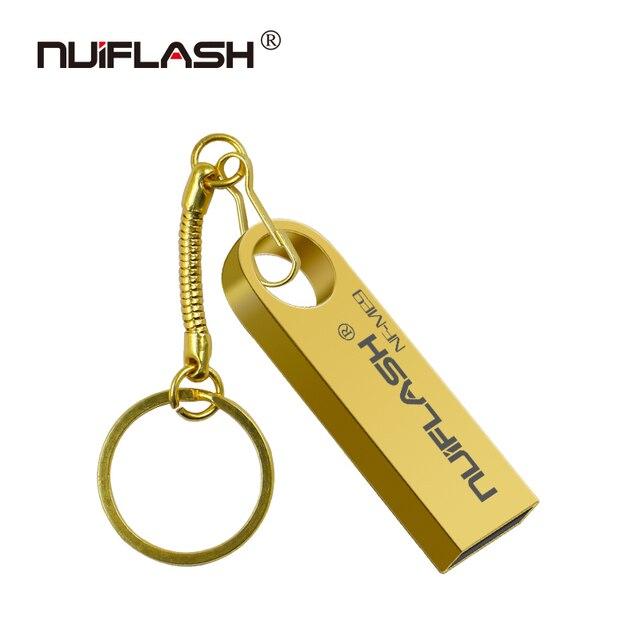 Bán Kim Loại đèn LED cổng USB 32 GB 64 GB 128 GB Pendrive 16 GB 8 GB Bút Chống thấm nước U dính Thẻ Nhớ CLE USB