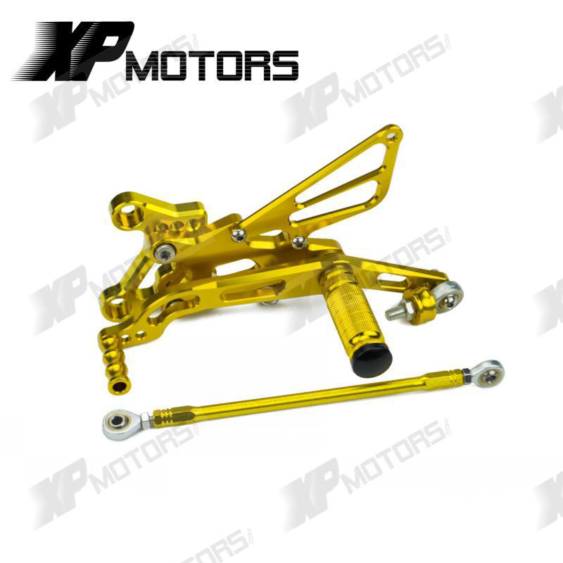 NICECNC Racing Footrests Foot Pegs Rest Rearsets Adjustable Footpeg Stainless Bolts Set For YZF-R6 YZFR6 2006-2015 YZF R6