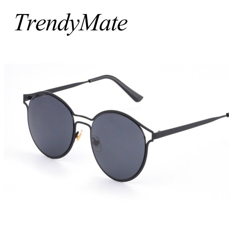 Round Sunglasses Women Vintage Cat Eye Sun Glasses Women Female Brand Design Mirrored Lens UV400 Glasses Lunette De Sol 706M