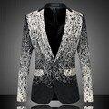 Пиджаки Большой размер M-6XL мужчины свободного покроя дизайнерский бренд осень мода бизнес высокое качество блюдо шелка пиджак тонкий верхняя одежда