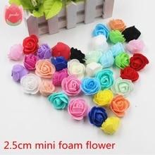 30pcs Mini PE Foam Roses Artificial Flowers For Wedding Box Handmade Decoration DIY Pompoms Wreath Valentine