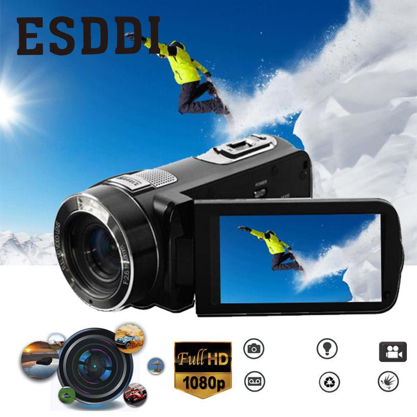 Esddi 3.0 24MP HD 1080P Digital Video Camera 16X Zoom Camcorder Anti-Shake DV Cam DVR Outdoor Travelling Car Sport Consumer alloyseed 2 7 inch digital camera 8x optical zoom lens 24mp hd children camcorder video recorder anti shake photo dv