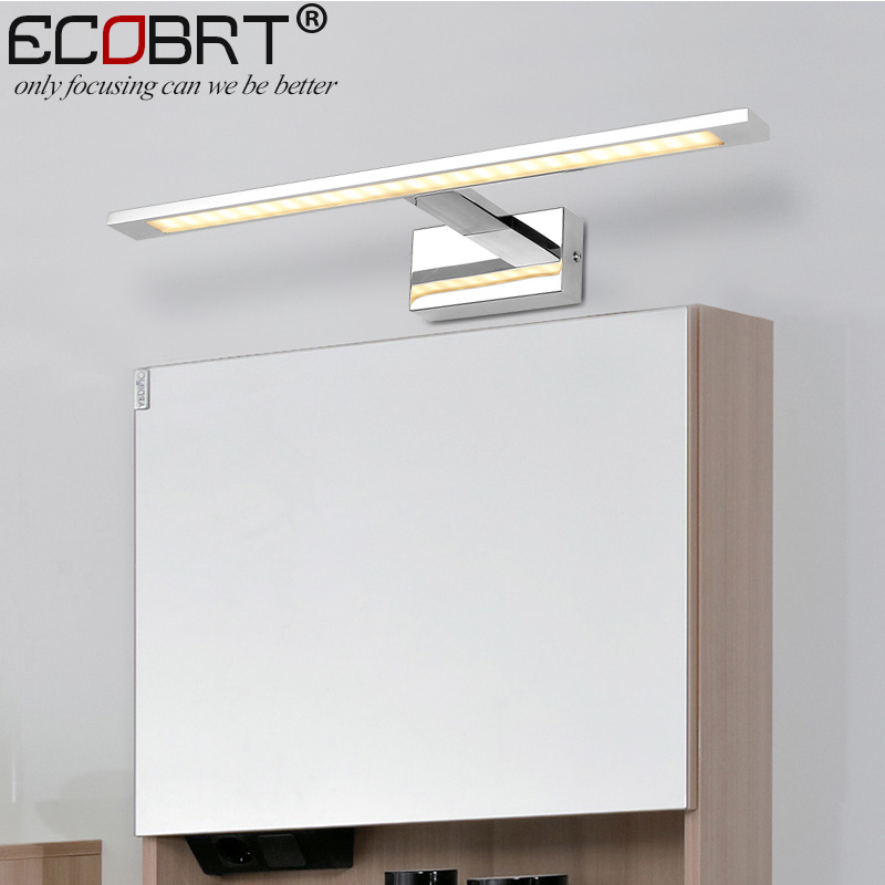 ECOBRT LED Indoor wall Lights Surface Mounted in Bathroom Lamps Modern Sconce Mirror Lighting Aluminum IP44 Wall Luminaria trustfire 6000mah 3 7v 32650 lithium li ion rechargeable battery with pcb protected for led flashlight free shipping