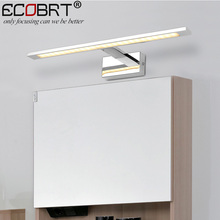 ECOBRT LED Indoor wall Lights Surface Mounted in Bathroom Lamps Modern Sconce Mirror Lighting Aluminum IP44 Wall Luminaria