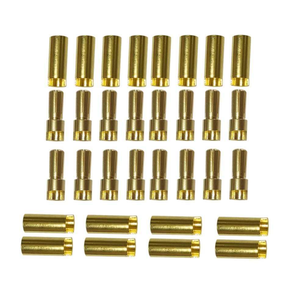 500 пар 2 мм/3 мм/3,5 мм/4 мм/5 мм/5,5 мм/6,5 мм золото типа Пуля банан разъем для ESC Батарея мотор