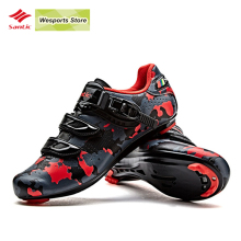Santic Men Road Cycling Shoes Carbon Fiber Cycling Racing Team Bicycle lock Shoes Breathable Cycling Sneakers
