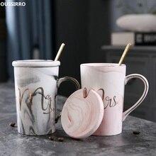 Luxury Marble Pattern Ceramic Mugs Gold Plating MRS MR Couple Lover's Gift Morning Mug Milk Coffee Tea Breakfast Creative Cup