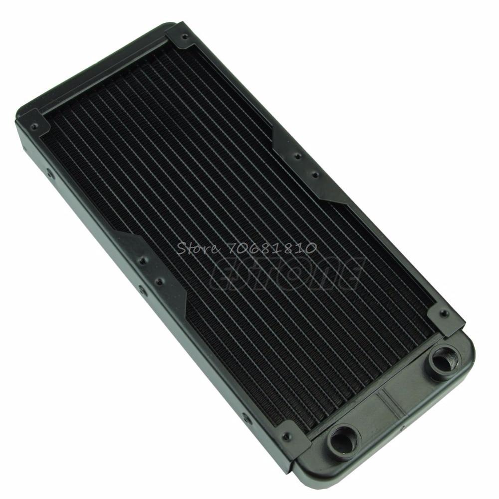 все цены на 240mm G1/4 Aluminum Computer Radiator Water Cooling For CPU LED Heatsink Z09 Drop ship онлайн