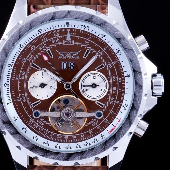 b1fcf443ce78 2015 nuevo masculino moda de lujo marca jaragar hombres mecánicos relojes  taquímetro tourbillon automático fecha reloj hombre