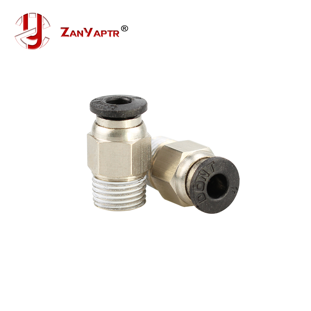 2pcs Pneumatic Connector PC4-01 1.75mm 3mm PTFE Tube Quick Coupler Feed Inlet For J-head Fittings Reprap Hotend Fits 3D Printer