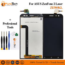 Free Ship 5.0 LCD For ASUS Zenfone 2 Laser ZE500KL LCD Display Touch Screen with Frame Digitizer Assembly For ASUS ZE500KL LCD цена