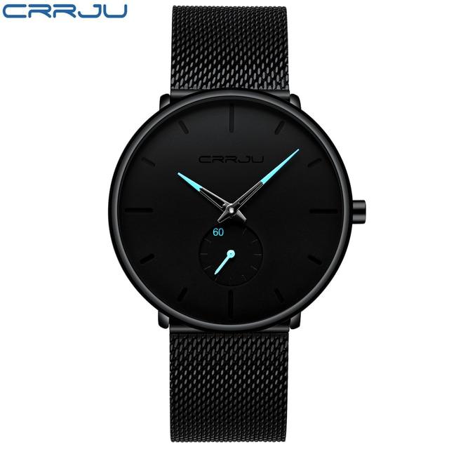 Crrju Top Brand Luxury Watches Men Stainless Steel Ultra Thin Watches Men Classic Quartz Men's Wrist Watch Relogio Masculino 1