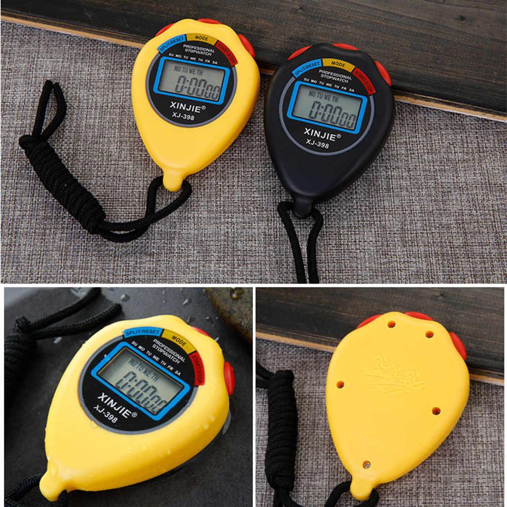 Nueva Vida impermeable Digital LCD cronógrafo temporizador alarma deportiva 3,0 #