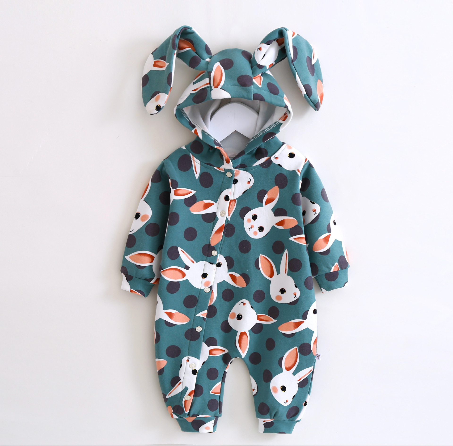 Newborn Baby  Costume Rompers Cartoon Hooded Jumpsuit Infant Boy Clothes Spring Autumn Rabbit Girl Overalls Clothing cotton baby rompers set newborn clothes baby clothing boys girls cartoon jumpsuits long sleeve overalls coveralls autumn winter