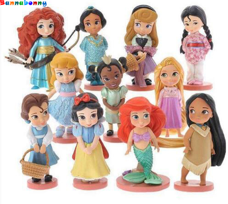 11 PCS/Set High Quality Pvc Action Figures Cute Cartoon Mini Princess Mermaid Toys Models Girls Gifts long cable winder cute cartoon animal headphone earphone organizer wire holder action toy figures set