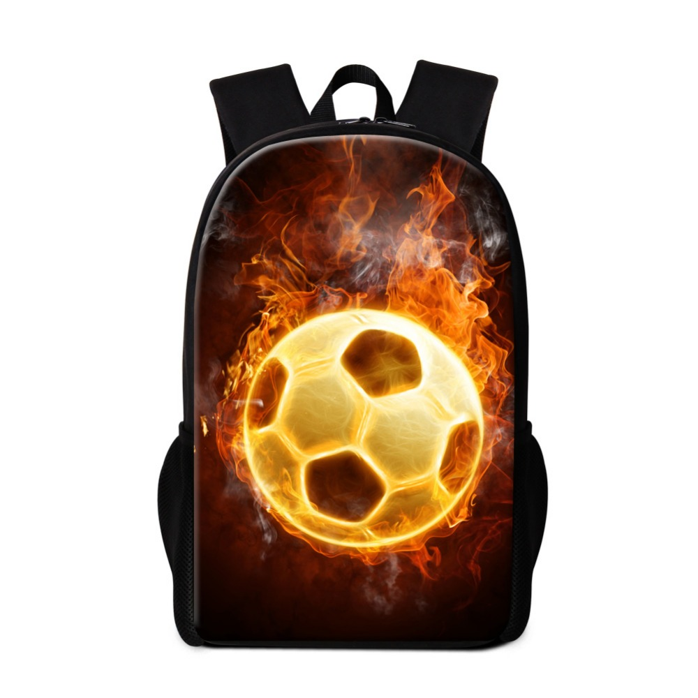 Cool School Backpacks for Boys Ball Printed Back Pack Fashion Lightweight Bookbags for Teenagers Schoolbag Bagpack for Children