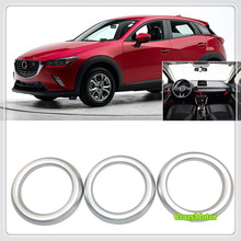 For Mazda CX-3 CX3 2015 2016 2017 2018 Car Styling Auto ABS Matte Interior Side Console Air Vent Adjustment Frame Cover 3*