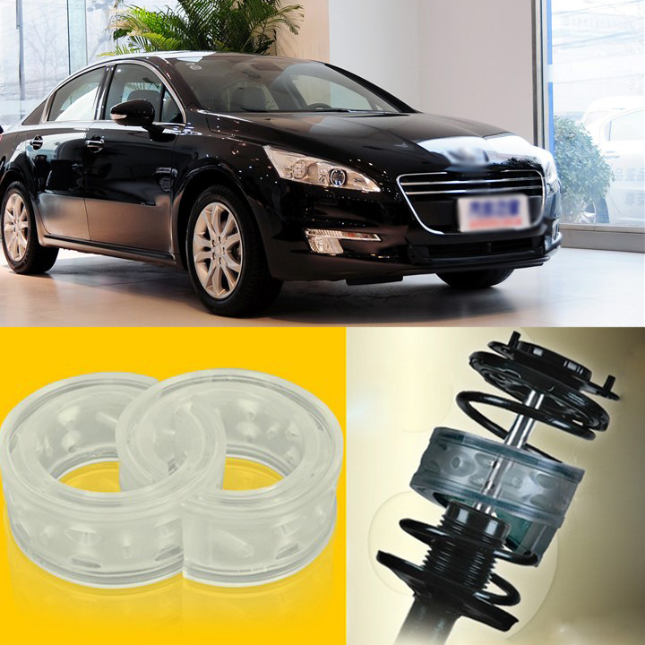 2pcs Power Front /Rear Shock Suspension Cushion Buffer Spring Bumper For Peugeot 508  high quality front rear car auto shock absorber spring bumper power cushion buffer for honda cr v