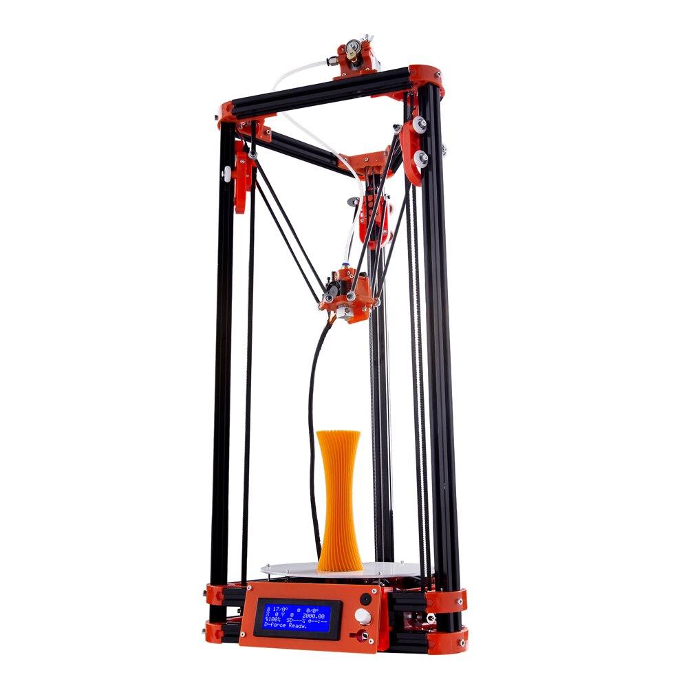 Flsun Delta 3D imprimante Kit zone d'impression 180*180*315mm avec lit chauffant nivellement automatique 3D imprimante Kit un rouleau PLA