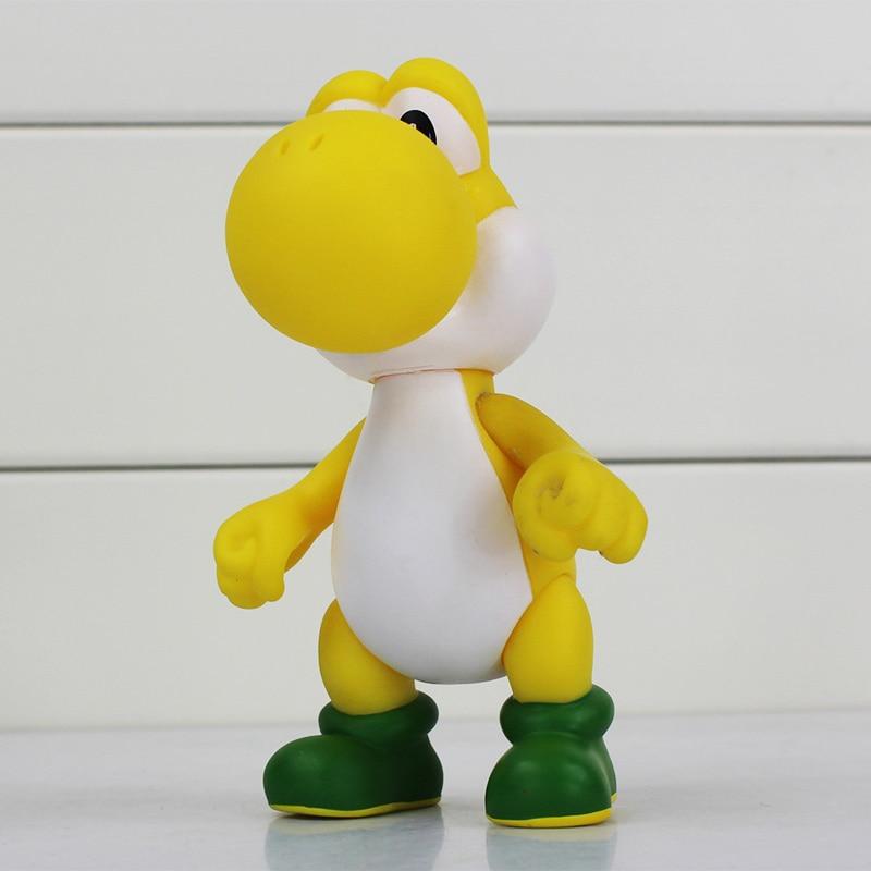 10pcs Super Mario Bros Luigi donkey kong Action Figures Yoshi 5 colors mario Toy Doll Gift 1