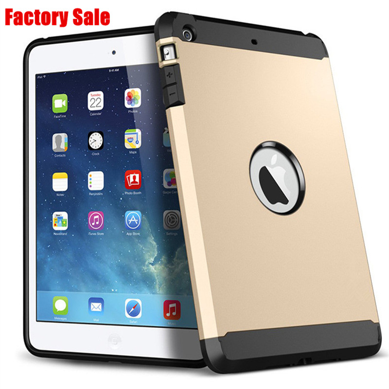 Factory Sale New Hard Armor Case Tough Protective Shell With Original Logo Back Case For iPad Mini 1 2 3 Retina Dual Layer Cover