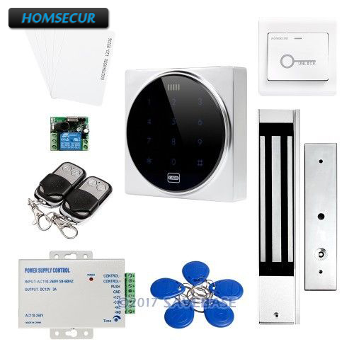 HOMSECUR Wiegand 26 Anti-Vandal ID Access Control System + Backlight + 280KG Magnetic LockHOMSECUR Wiegand 26 Anti-Vandal ID Access Control System + Backlight + 280KG Magnetic Lock
