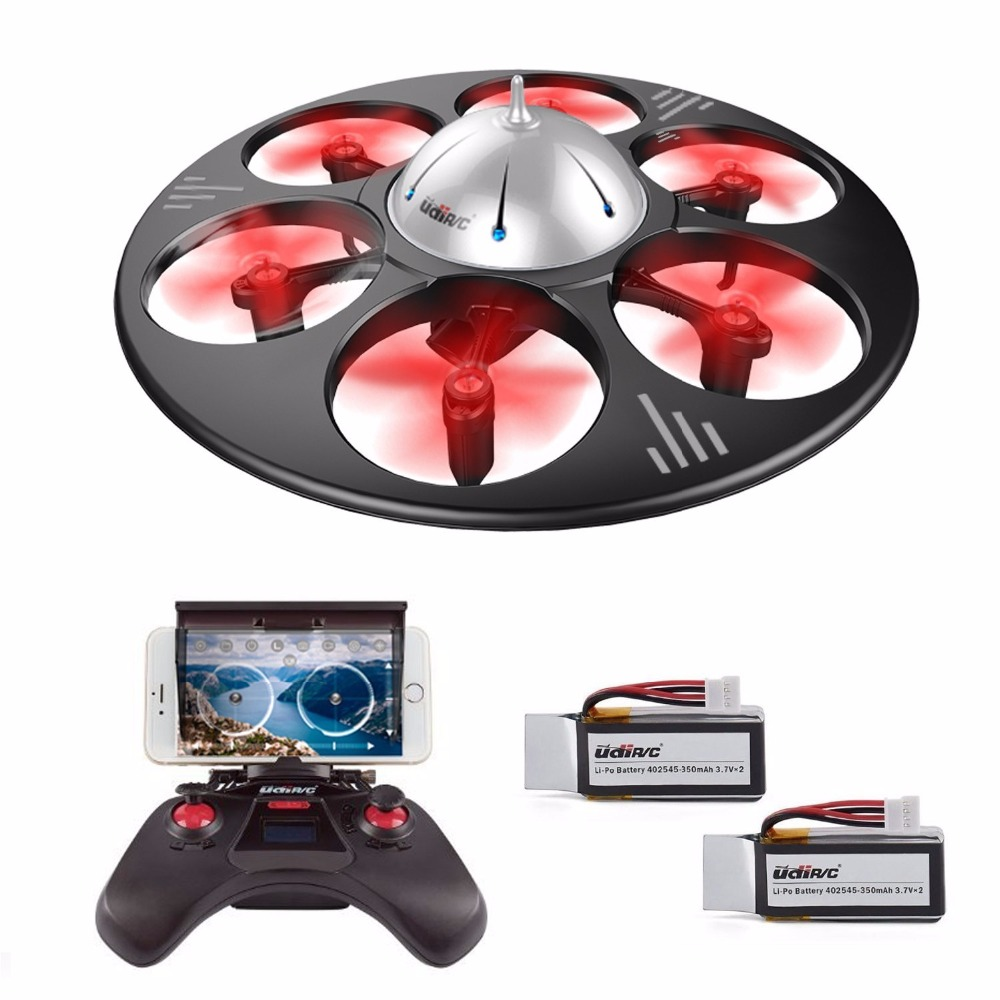 UDI RC U845 WiFi 2.4GHz 6 Axis Gyro FPV Drone with HD Camera RTF Quadcopter Bundle with Battery