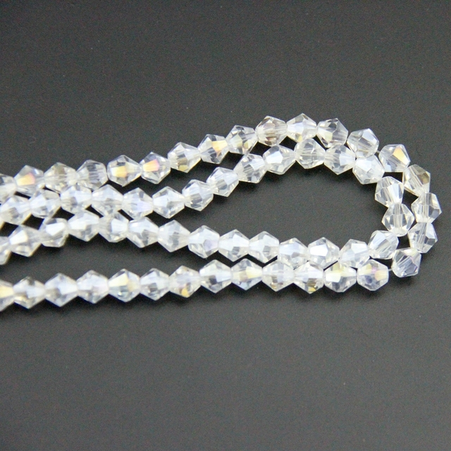 Fashion wedding supply 3 10mm clear ab crystal bicone beads k9 glass fashion wedding supply 3 10mm clear ab crystal bicone beads k9 glass chandelier parts for aloadofball Choice Image