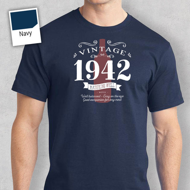 75th Birthday Gift Present Idea For Boys Dad Him Men T Shirt 75 Tee 1942