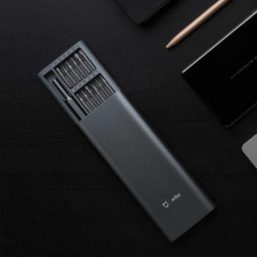 Xiaomi Mijia Wiha Daily Use Screw driver Kit 24 in 1 Precision Magnetic Bits Aluminium Home Multi-function Hand Tool Set Kit