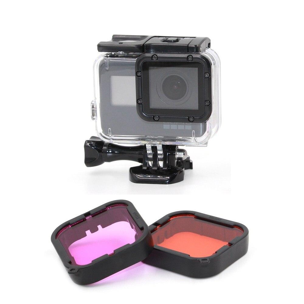 Original Für GoPro Hero 6 5 Lila-Rot Filter Objektiv Für Blau Grün Farbkorrektur Unterwasser-fotografie
