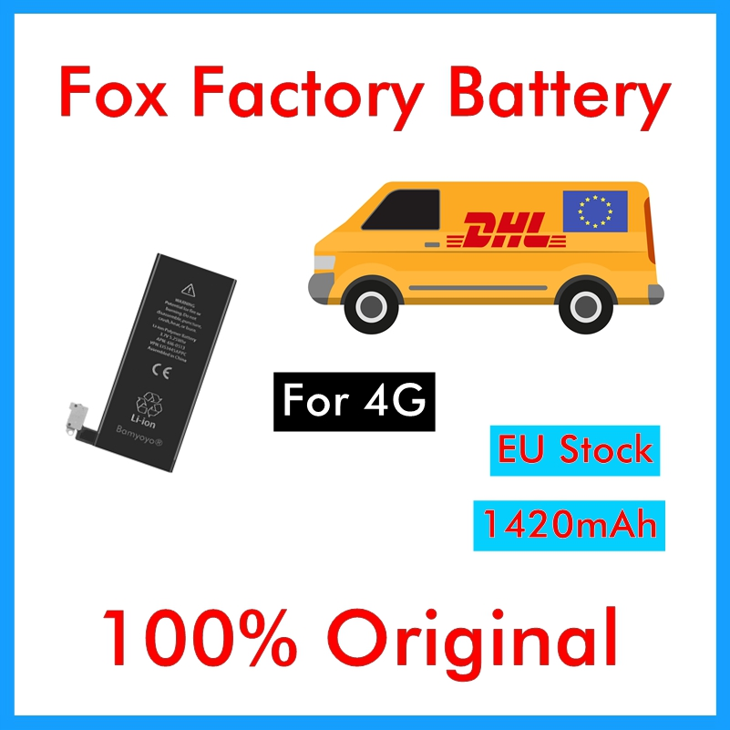 BMT original 10pcs/lot Quality AAA 1420mAh 3.7V 0 zero cycle Battery for iPhone 4 4G replacement repair parts