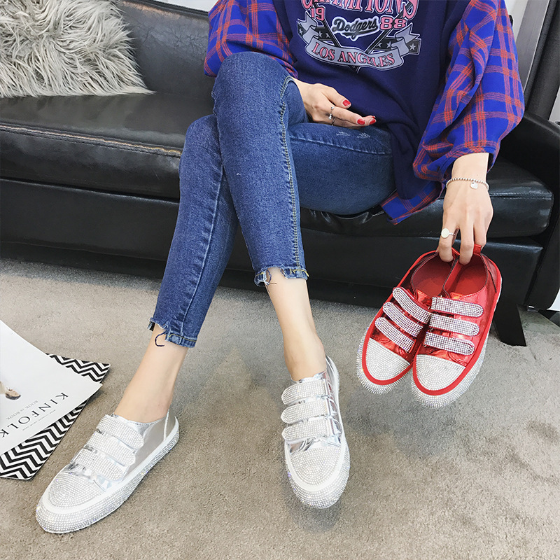 ... Leisure Breathable Shoe Real Women Fashion Brand Jookrrix Casual Spring  Leather Shoes Bling Lady Crystal 2018 ... 524190b7808c