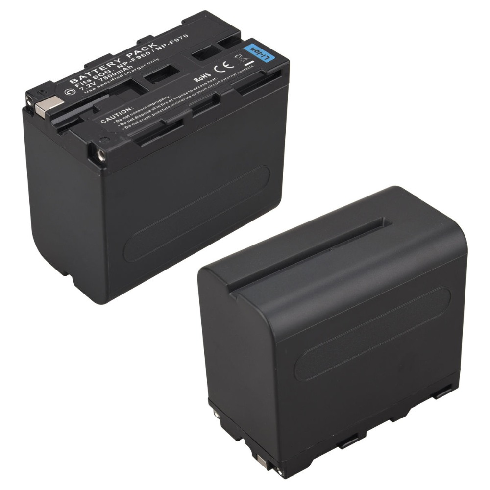 GTF High Capacity 7.2V 7800mAh NP-F960 NP-F970 Camera Battery Pack For Sony F960 F970 Rechargeable Battery np f960 f970 6600mah battery for np f930 f950 f330 f550 f570 f750 f770 sony camera