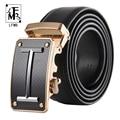 [LFMB] fashion100 % de los hombres cinturones de Cuero Genuino para los hombres de Alta calidad de metal hebilla automática Correa masculina Jeans vaquero envío gratis