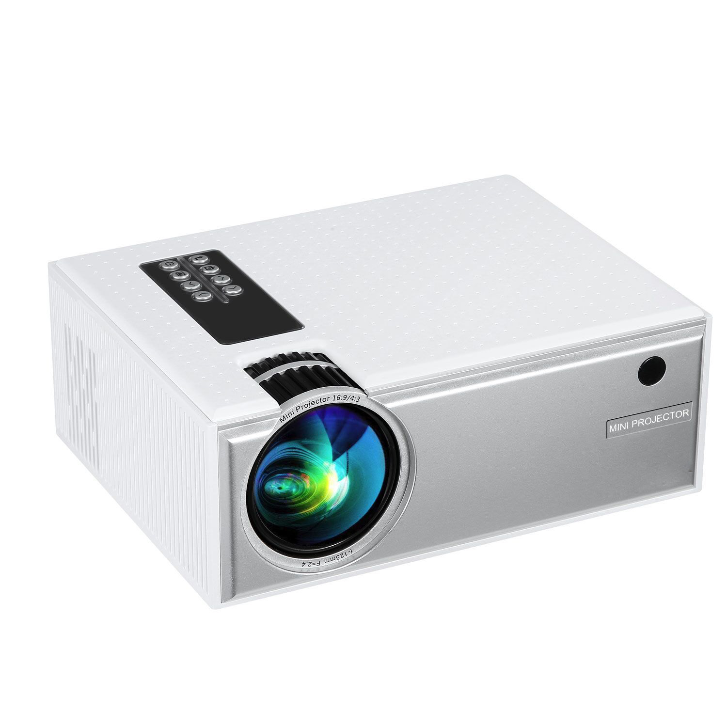 CLAITE C8 LCD Projector Support 1080P 1800 Lumens 1280 x 800 Pixels Home Theater Projector WhiteCLAITE C8 LCD Projector Support 1080P 1800 Lumens 1280 x 800 Pixels Home Theater Projector White
